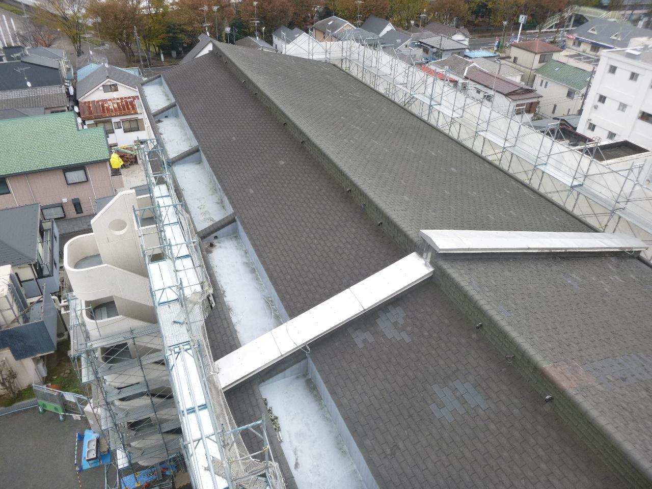 施工前 最上部勾配屋根