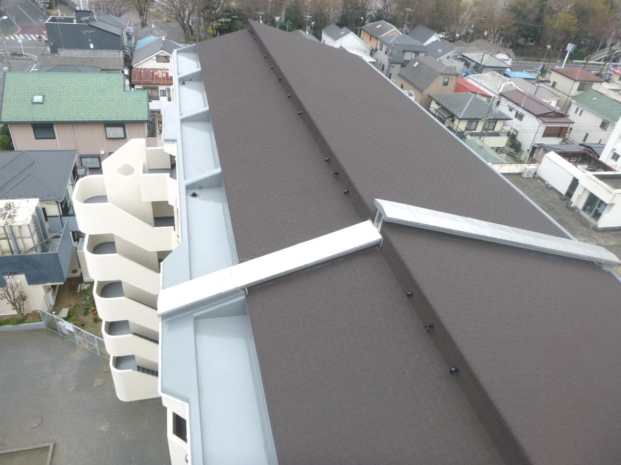 施工後 最上部勾配屋根