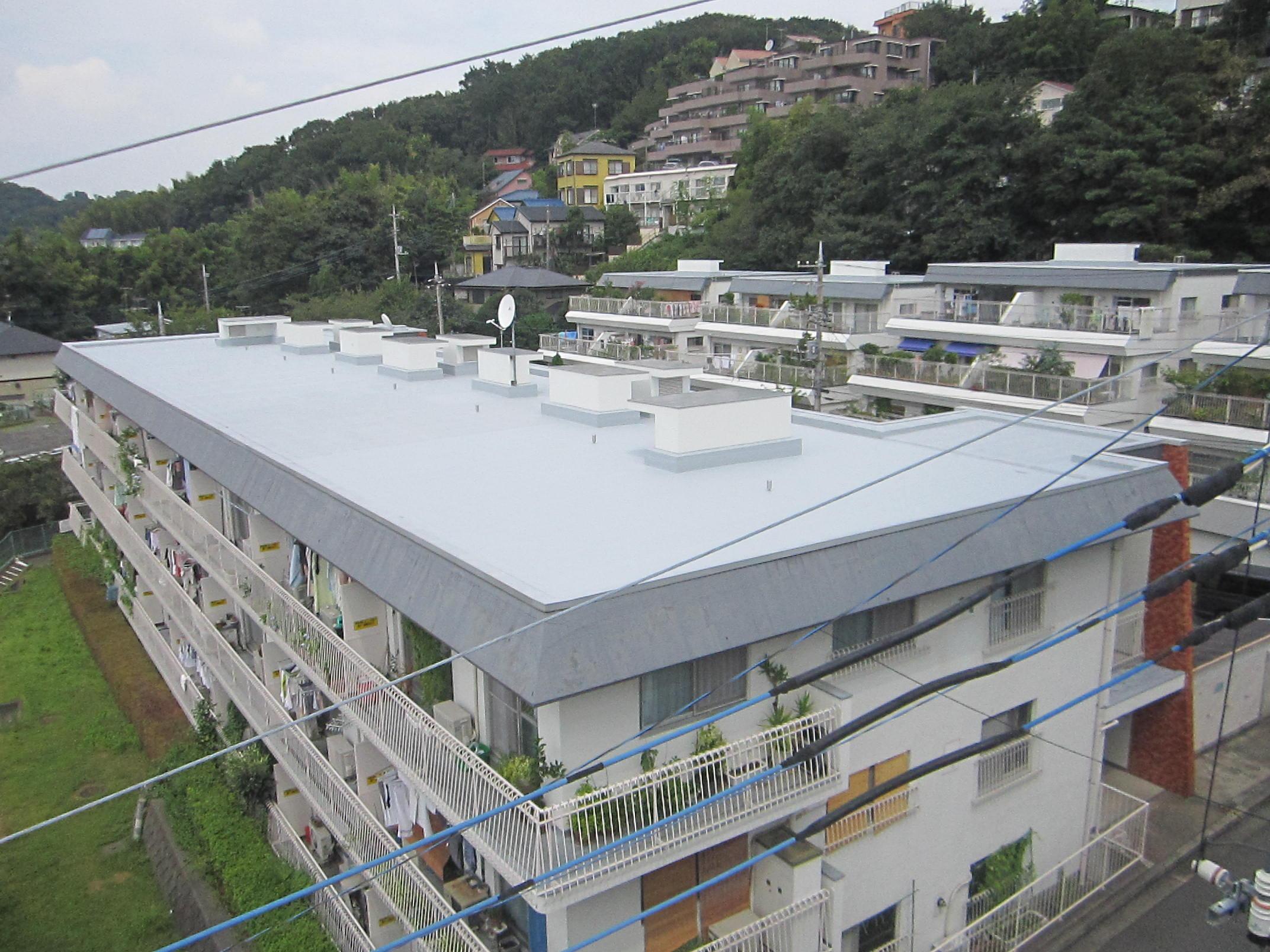 屋上防水 施工完了後