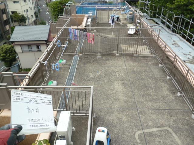 屋上スカイガーデン 防水前