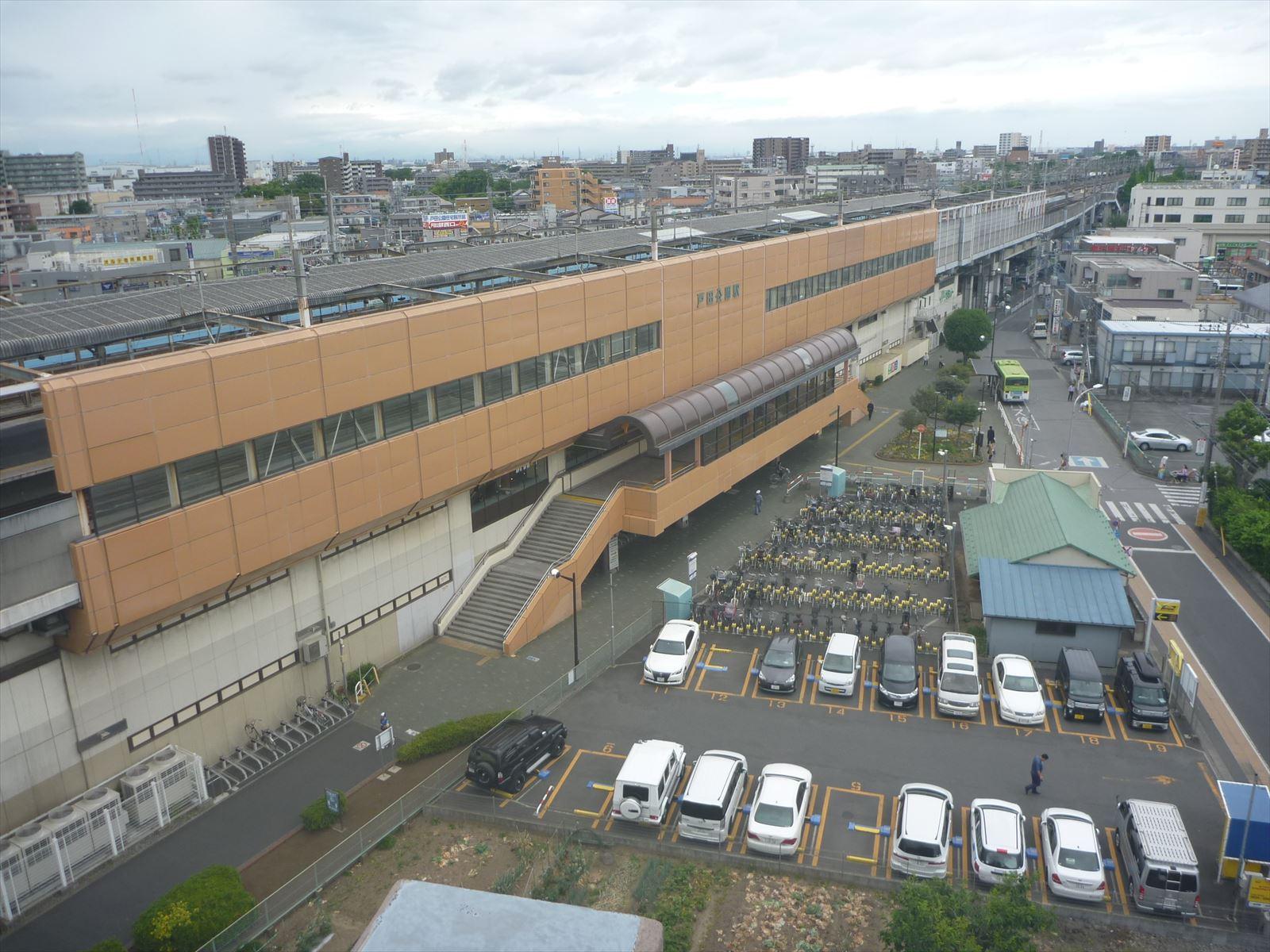 屋上からの駅