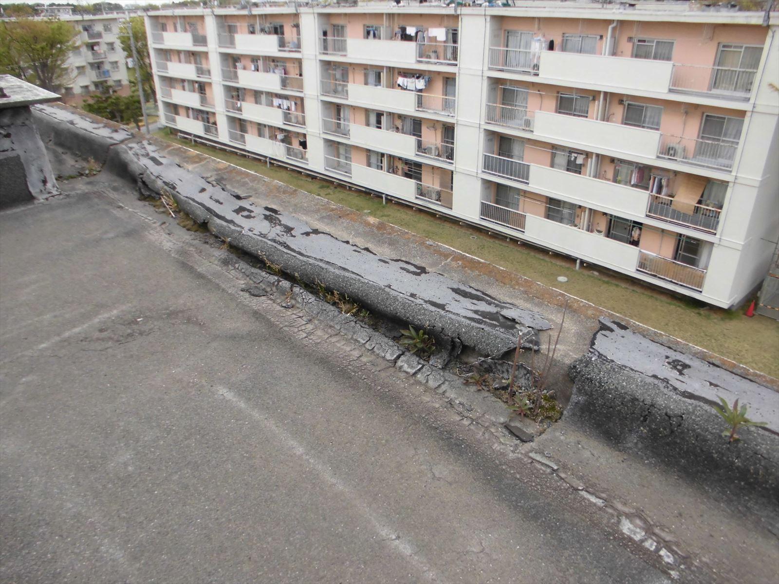 既存防水層劣化状況